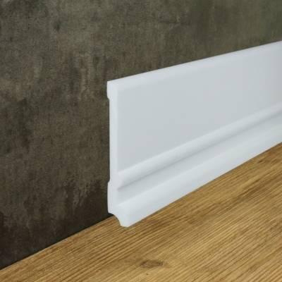 """Fußbodenleiste """"Venlo"""" (NMC FLOORSTYL® - FD21) aus schlagfestem, wasserbeständigem Kunststoff"""