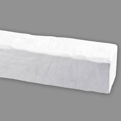 Wiesemann PU-Balken, aus hochfestem Polyurethan, 9 x 6 x 400 cm, Weiß