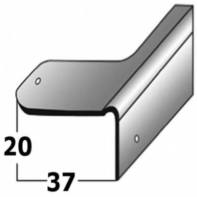 Reparaturwinkel, Sanierung für Holztreppen, verzinkter Stahl, 20 mm Nase, inkl. Befestigungszubehör