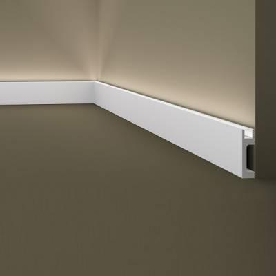 Außenwinkel   Sockelleiste / Lichtleiste   Wallstyl IL10 NMC   80 x 23   indirekte Beleuchtung