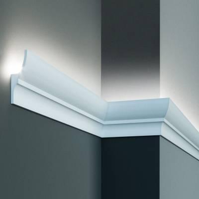 Stuckleiste | 70 mm x 40 mm | Polyurethan | KF701 | Lichtleiste | Zierleiste