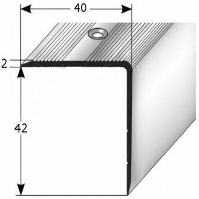 24 x 37 x 3 mm silber Aluminium eloxiert gebohrt Treppenkantenprofil // Winkelprofil