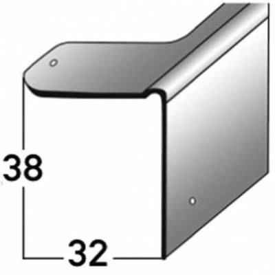 Reparaturwinkel, Sanierung für Holztreppen, verzinkter Stahl, 38 mm Nase, inkl. Befestigungszubehör