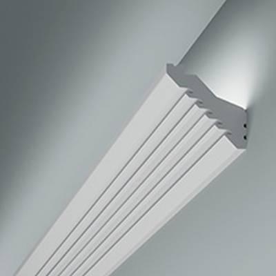 Licht - Stuckleiste 6.50.711 Lines | hochfestes, wasserfestes Polystyrol incl. Reflektionsklebeband