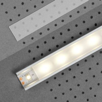 "Klick Abdeckung ""I"" für LED-Aluminiumprofile"