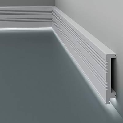 Licht - Sockelleiste / Fußleiste 6.53.705 Lines | aus hochfestem und wasserfestem Polystyrol