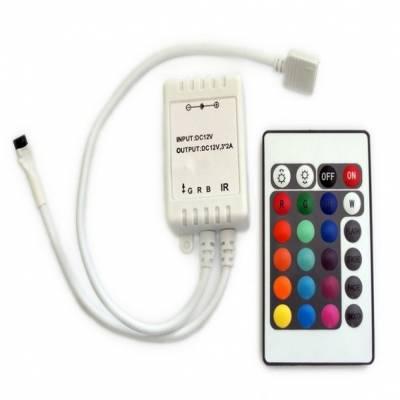 LED RGB Controller mit Infarot Fernbedienung