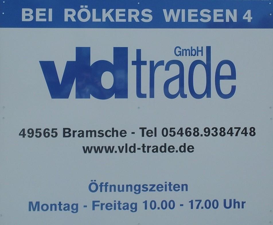 Adresse Schild VLD Trade Bramsche Engter